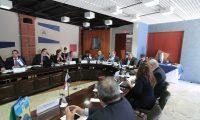 El Consejo de Ministros de la Integración Económica Centroamericana, definió la ruta para la negociación de un posible acuerdo comercial con el Reino Unido. La reunión se realizó en la sede de la Sieca este martes. (Foto Prensa Libre: Juan Diego González)