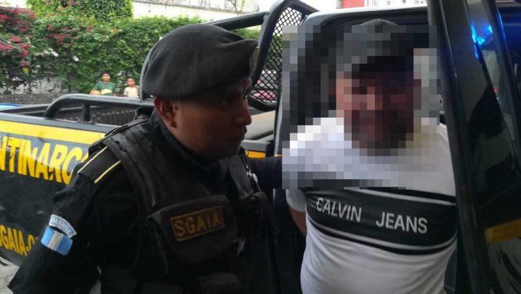 """Rony Alexander Ortiz López, alias """"el R"""", fue capturado este sábado. (Foto Prensa Libre: PNC)"""