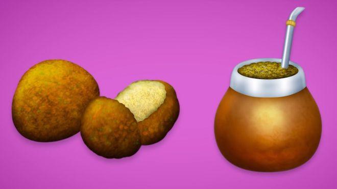 El falafel y el mate forman parte del nuevo conjunto de emojis que podrás usar en WhatsApp (EMOJIPEDIA)