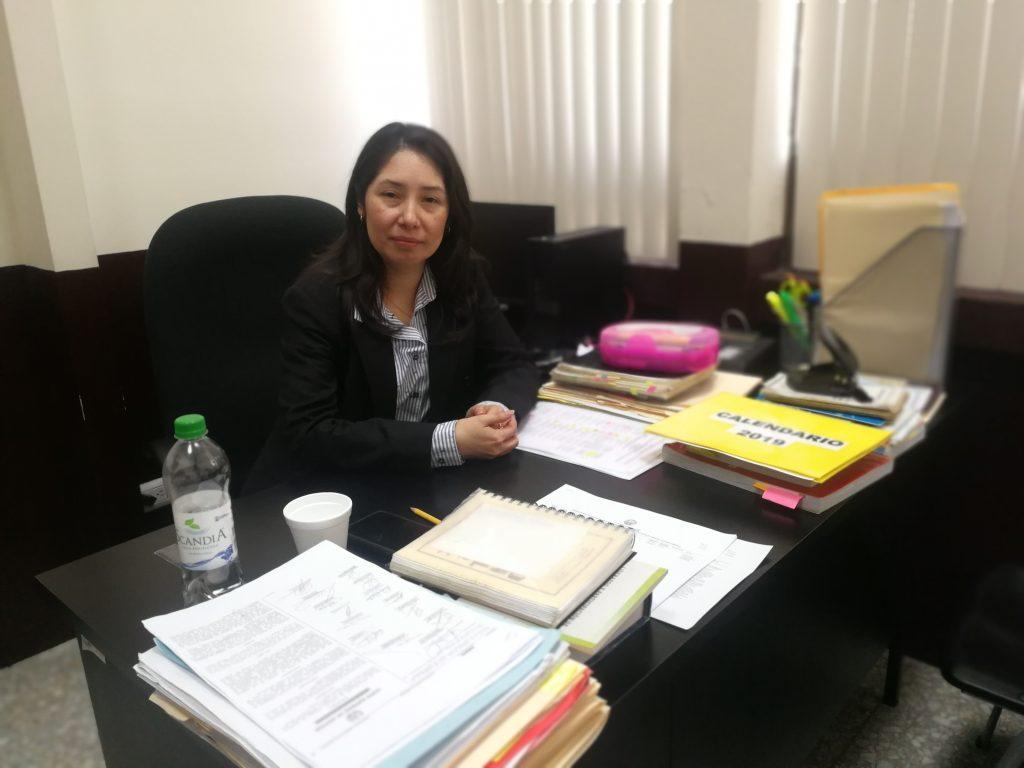 La jueza de alto impacto, Erika Aifán, mencionó que no le proporcionaron una grabación. (Foto Prensa Libre: Kenneth Monzón)