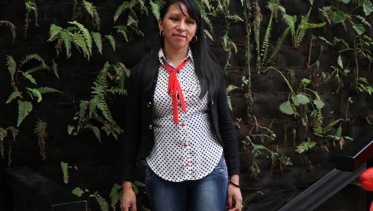 Exbecaria de Israel  Silvia Sac emprendió en Quetzaltenango con una técnica de agricultura que no se utilizaba en el país. (Foto Prensa Libre: María Longo)