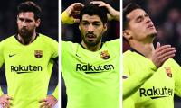 El Barcelona no consiguió romper el cerco defensivo del Lyon. (Foto Prensa Libre: AFP)