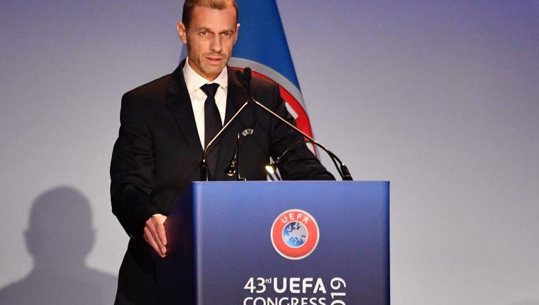 El presidente de la Uefa, Aleksander Ceferin, asegura que todavía no está definido el nuevo formato. (Foto Prensa Libre:  AFP)