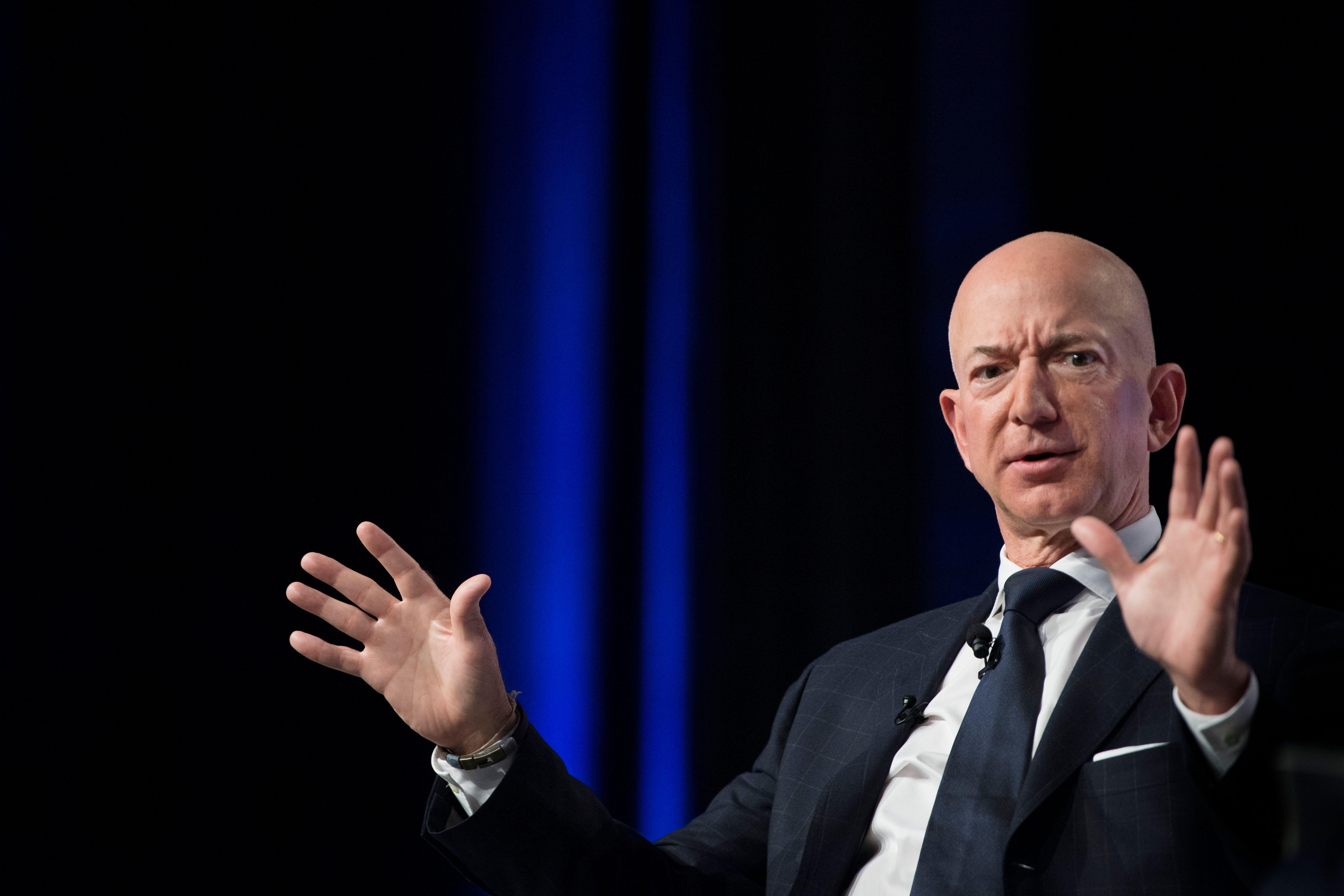 Jeff Bezos, fundador de Amazon. (Foto Prensa Libre: AFP)