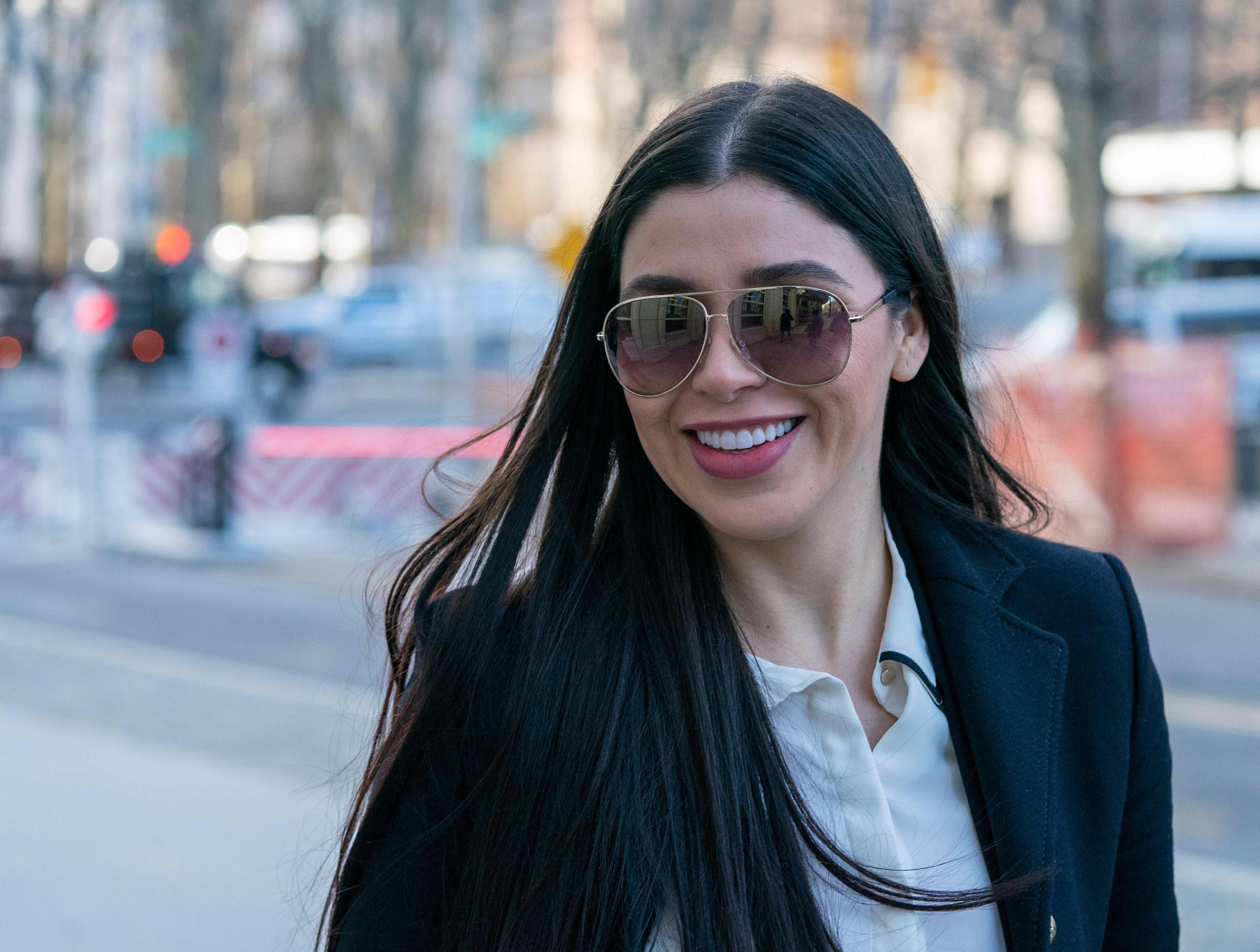 Emma Coronel, esposa del Chapo Guzmán. (Foto Prensa Libre: AFP)