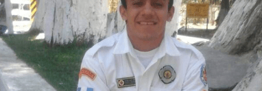 Briam Alexander Alesio Gámez era un bombero entregado a su servicio al prójimo. (Foto Prensa Libre: Víctor Chamalé).