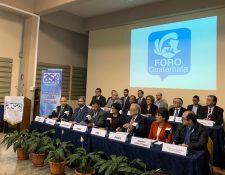 En enero del 2018 el Foro Guatemala empezó la discusión de los problemas sociales que afectan al país y se propusieron cambios al Estado. (Foto Prensa Libre: Cortesía)