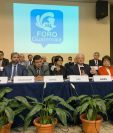 El Foro Guatemala entregó el lunes último sus propuestas a los presidentes de los tres poderes del Estado, las cuales trabajó desde agosto de 2018. (Foto Prensa Libre: Cortesía)