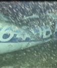 Las autoridades hicieron pública esta imagen de los restos del avión en el fondo del Canal de la Mancha. AAIB.