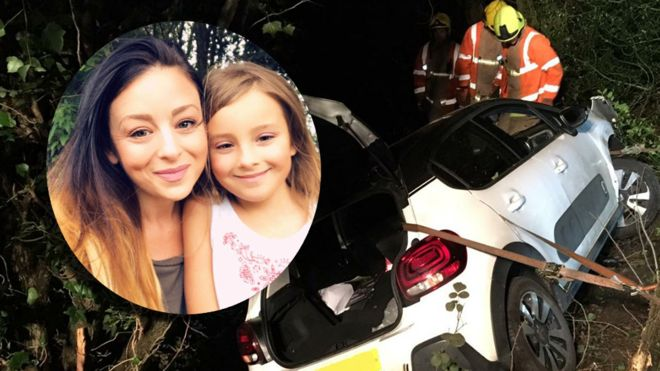 Gemma y su hija Martha sufrieron un accidente automovilístico y nadie podía encontrarlas (SWNS)