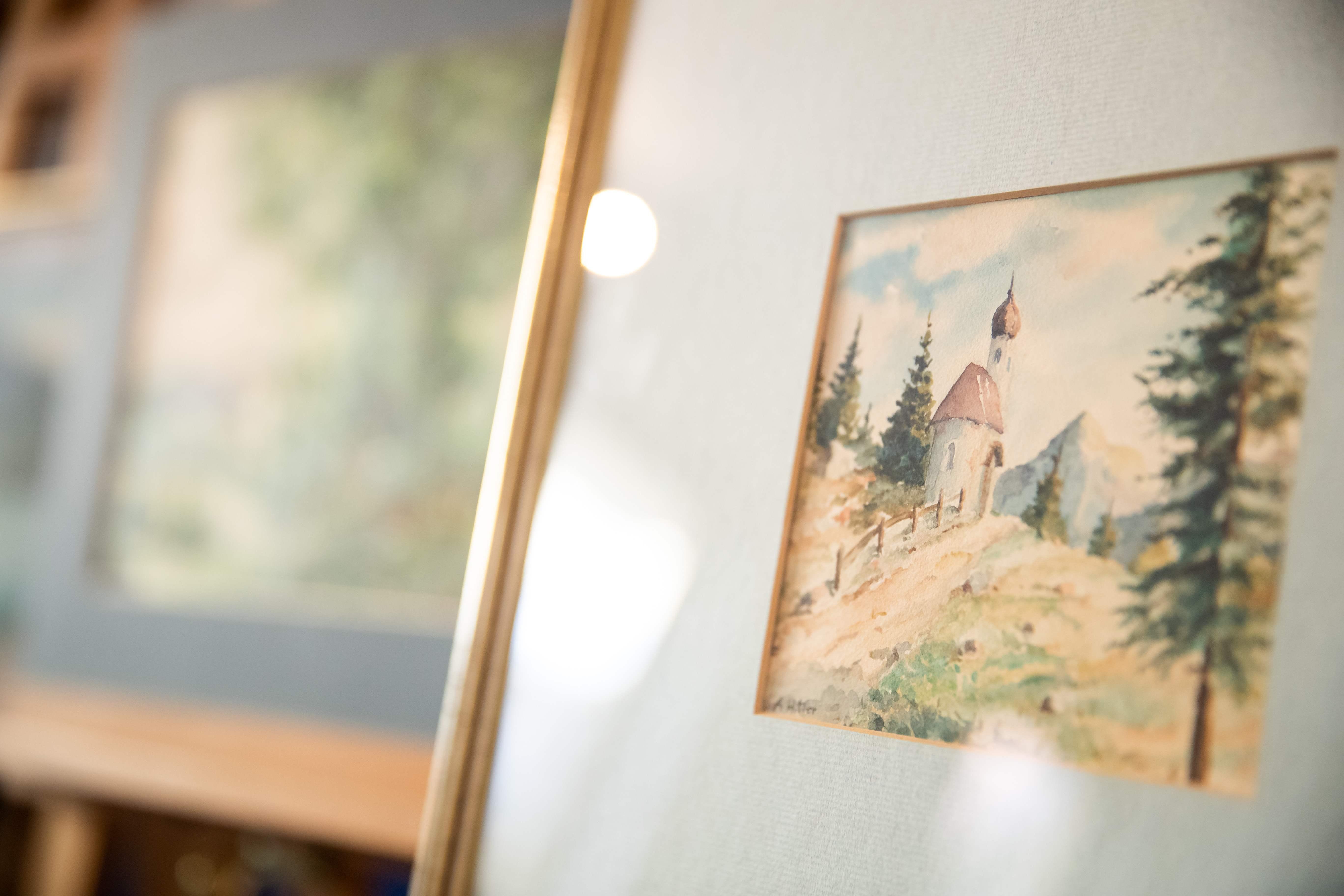 Paisaje pintado por Adolfo Hitler. Foto: AFP