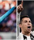 Griezmann y Cristiano Ronaldo se enfrentan en un duelo de grandes artilleros. (Foto Prensa Libre: AFP)