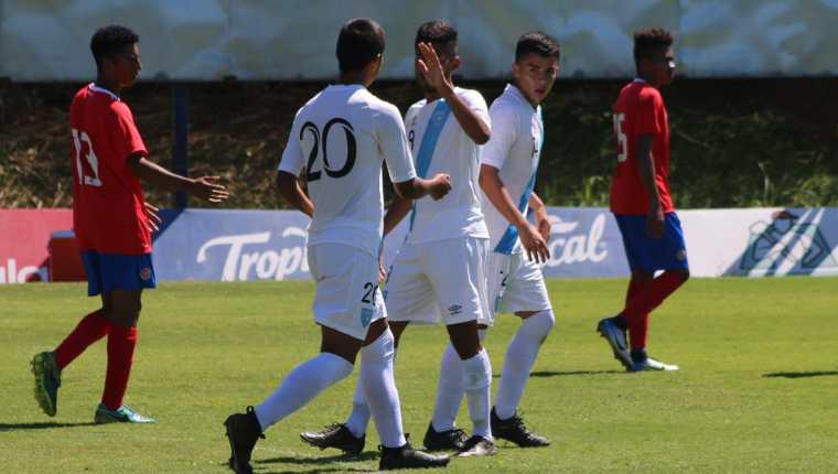 Edward Castro anotó el único gol de la Selección de Guatemala contra Costa Rica. (Foto Cortesía Fedefut).
