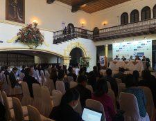 La mañana de este jueves se llevaron a cabo paneles en donde se brindaron recomendaciones para la protección de los derechos de autor y derechos conexos (Foto Prensa Libre: Cámara de Industria de Guatemala)
