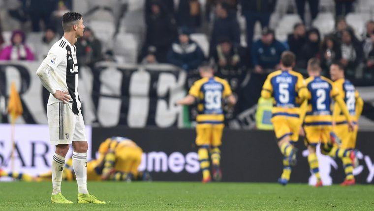 La Juventus no pudo mantener la ventaja. (Foto Prensa Libre: EFE)