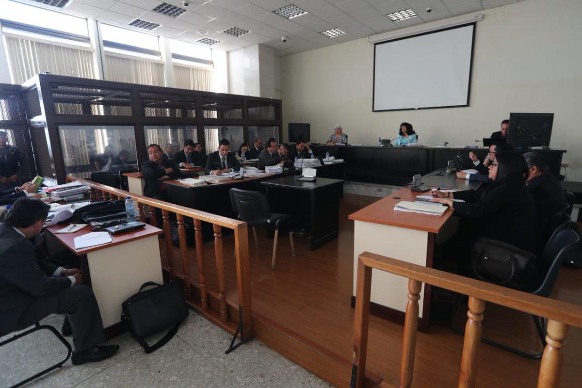 En el Tribunal de Mayor Riesgo A se escucharon las conclusiones del caso Lavado y Política. (Foto Prensa Libre: Érick Ávila)