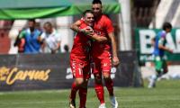 Edward Santeliz y Enzo Herrera anotaron los goles de la victoria de Malacateco. (Foto Prensa Libre: Carlos Vicente)