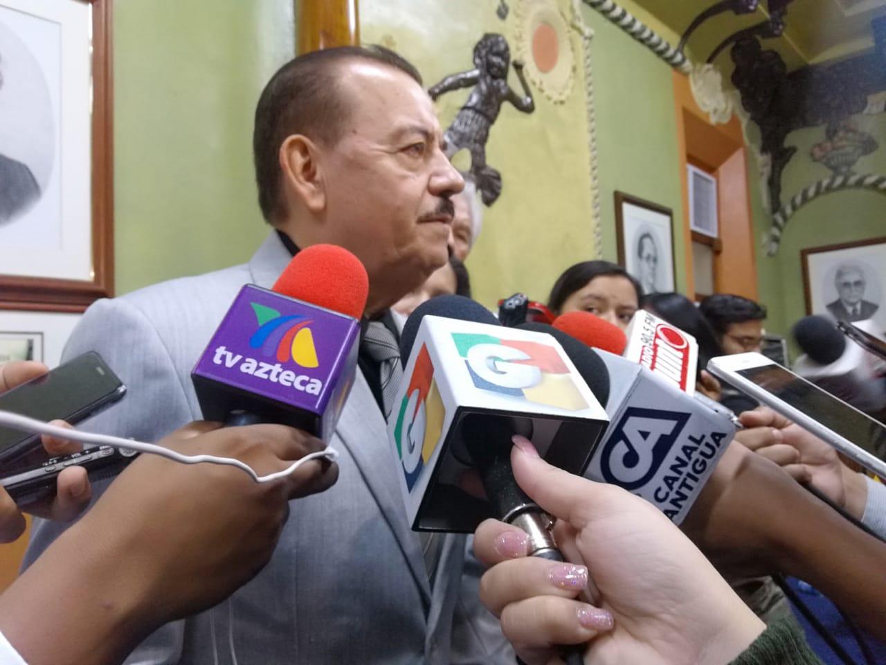 El presidente del TSE, Mario Aguilar Elizardi, en declaraciones a la prensa. (Foto Prensa Libre: Andrea Orozco)
