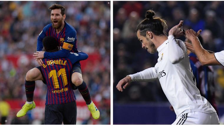 Lionel Messi y Gareth Bale buscarán ser los protagonistas en la Copa del Rey. (Foto Prensa Libre: AFP)