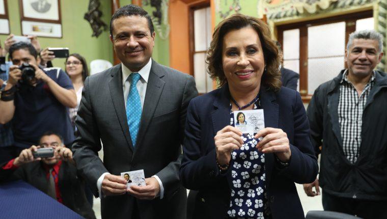 Sandra Torres recibió el martes último su credencial, que le otorga inmunidad. (Foto Prensa Libre: Hemeroteca PL)