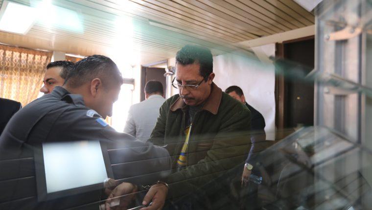 JosŽ Conrado Garc'a Hidalgo, diputado al momento de Salir del Juzgado SŽptimo Penal de tribunales luego de que suspenden audiencia, el caso esta bajo reserva el diputado perdi— la inmunidad en 2017, fue capturado por lavado de dinero y lo env'an a la carcel de Mariscal Zabala.  Erick Avila                  06/02/2019