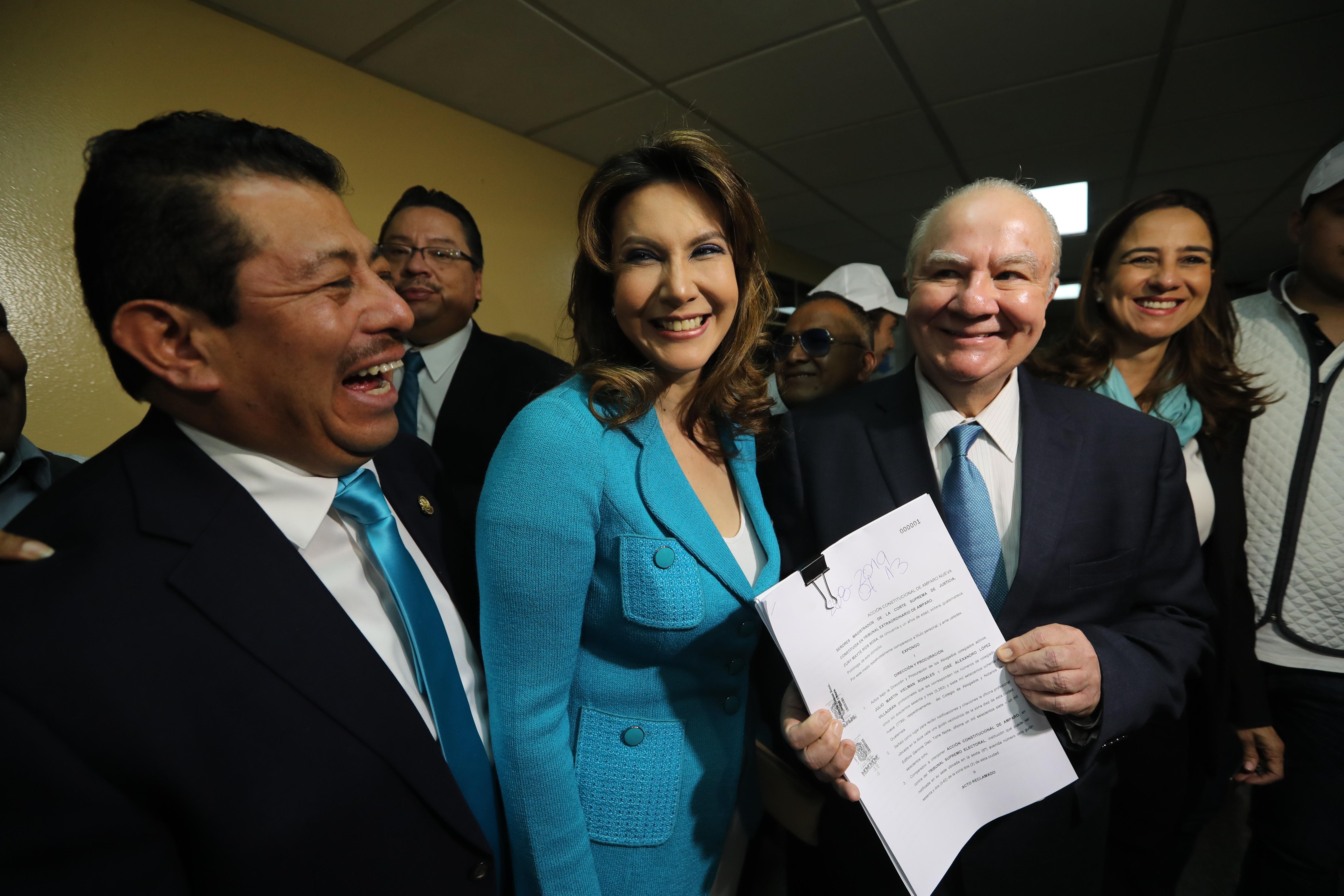 Zury Ríos fue amparada por la Corte Suprema de Justicia para participar en la contienda electoral. (Foto Prensa Libre: Hemeroteca PL)
