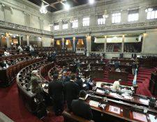 La Sesión Plenaria del Congreso se levantó por falta de quorum y no se logró la aprobación de un préstamo para atender la desnutrición crónica. (Foto Prensa Libre: Esbín García)