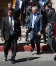 El vicepresidente Jafeth Cabrera, acudió al Congreso para participar en la entrega de la Medalla Nacional de Ciencia y Tecnología. (Foto Prensa Libre: Esbin García)