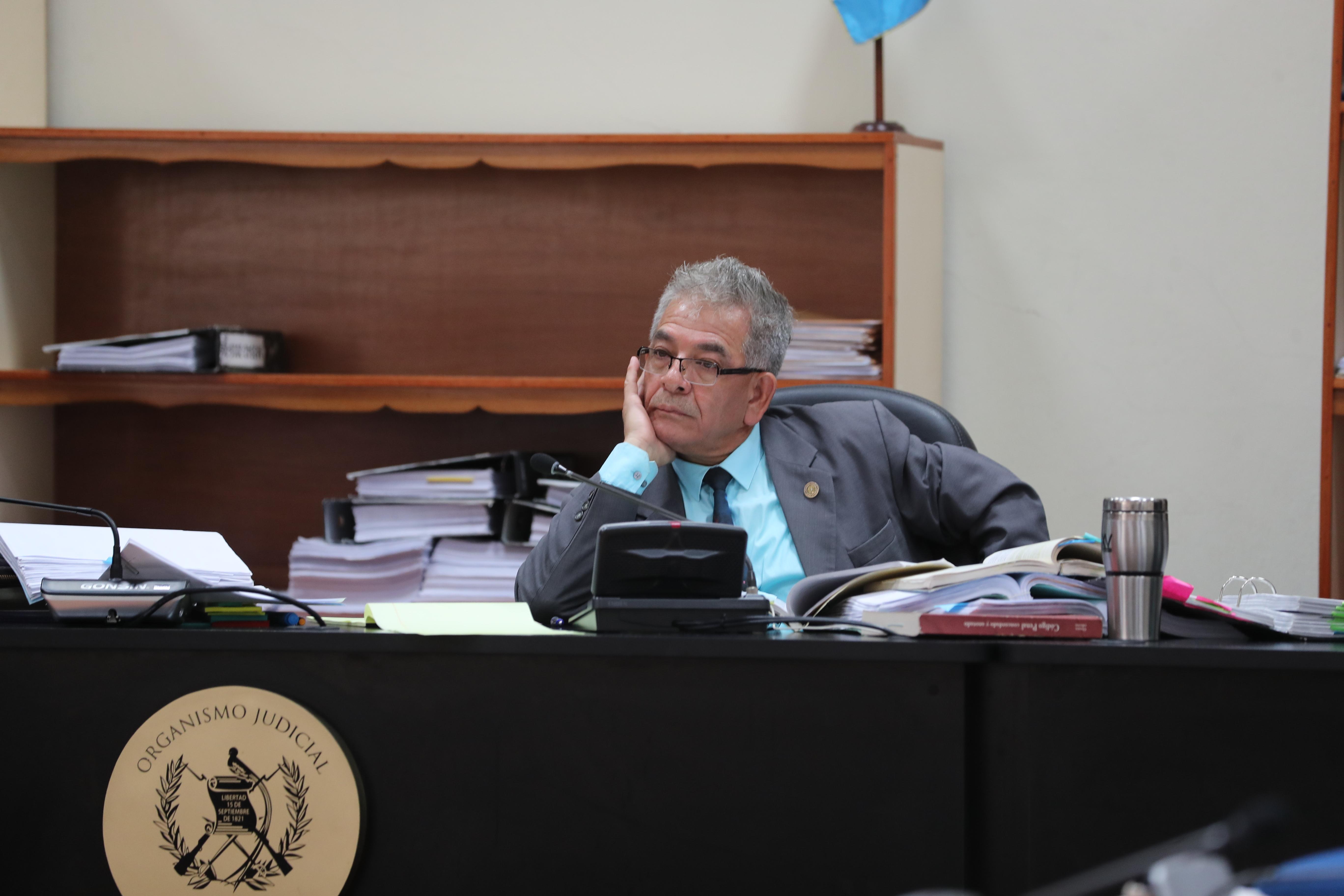Miguel Angel G‡lvez, juez del Juzgado de Mayor Riesgo B inicia la audiencia de ofrecimiento de pruebas  por el caso La L'nea.   Erick Avila.            21/02/2019
