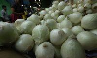 El precio de la libra de  cebolla se cotiza hasta Q8 en el Mercado Central, confirmaron comerciantes. El Maga dice que hay reducción de cosecha. (Foto Prensa Libre: Esbín García)