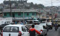 Taxistas son blanco de extorsiones por parte de  pandilleros en la Colonia Maya , zona 18, catalogada como zona roja .                                                                                              Fotograf'a Esbin Garcia 23-02- 2019.