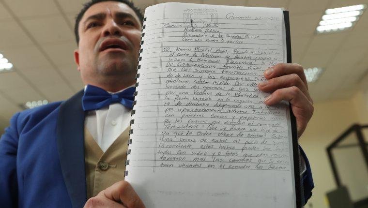 Marvin Montiel Marín denuncia fiestas de funcionarios en prisión y una relación de la colaboradora eficaz Alejandra Reyes con un exagente de la Cicig que considera perjudicial para su defensa. (Foto Prensa Libre: Esbin García)
