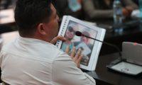 En el Juzgado de Mayor Riesgo A, se lleva acabo  audiencia donde  Marvin Montiel Mar'n, alias el Taquero, implicado en la muerte del reo Byron Lima, declara ante la jueza y dijo tener pruebas en la participaci—n de Alejandra Reyes, expareja de Lima.  Fotograf'a. Erick Avila:                     28/02/2019