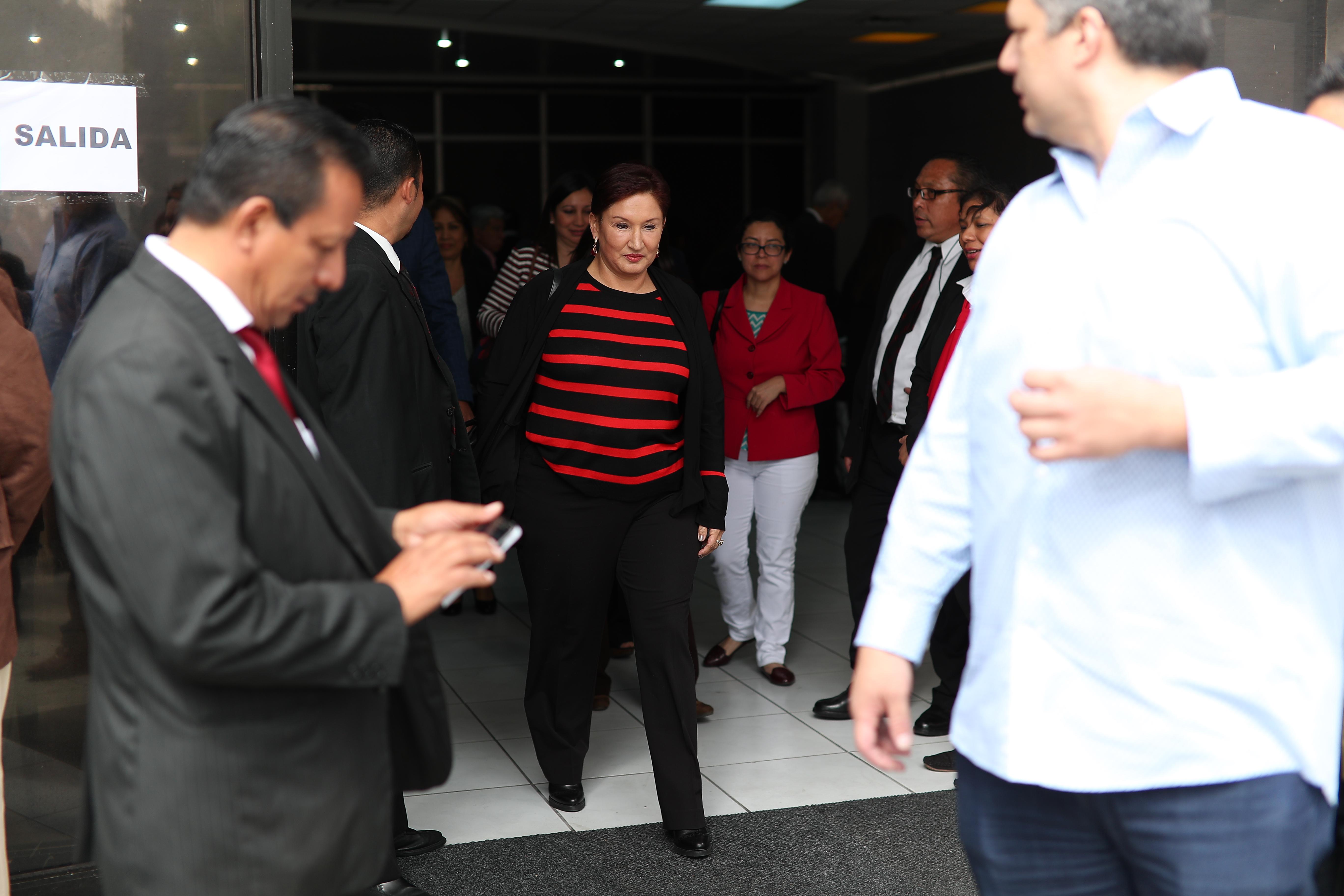 Thelma Aldana será proclamada candidata presidencial el próximo domingo.  (Foto Prensa Libre: Hemeroteca PL)