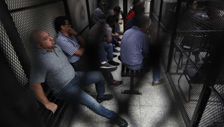 Los personas sentenciadas este lunes del caso Patrullas fase 1. (Foto Prensa Libre: Hemeroteca PL)