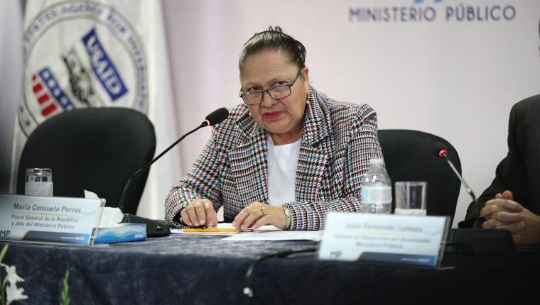 La fiscal general Consuelo Porras estaría en la inauguración de al Unidad contra el Tráfico Ilícito de Migrantes, pero se suspendió la actividad. (Foto Prensa Libre: Hemeroteca PL)