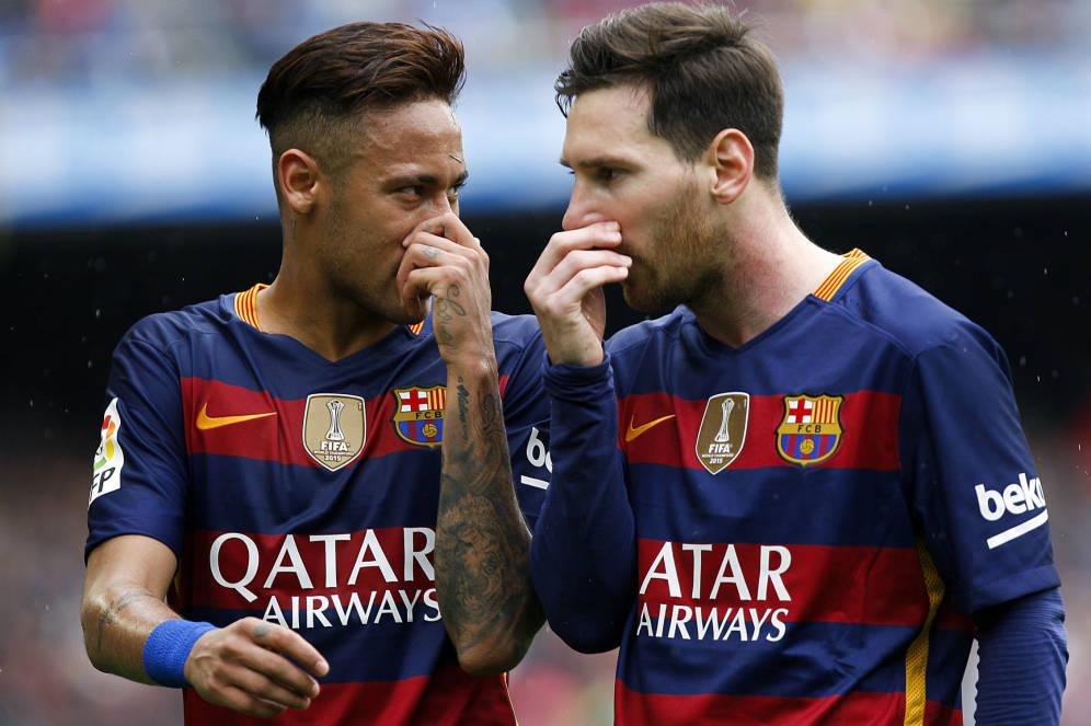 Neymar y Messi compartieron muchos triunfos juntos en el Barcelona. (Foto Prensa Libre: Hemeroteca PL)