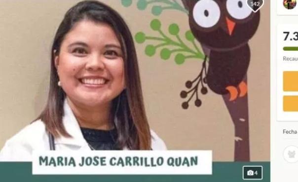 Esta es la página en la que se abrió la campaña de donación para María José Carrillo.