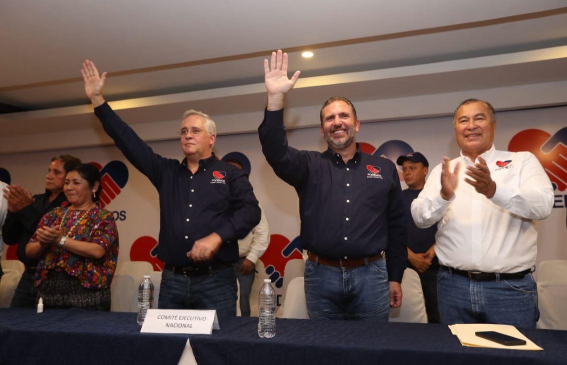 Roberto Arzú García-Granados y José Farías fueron proclamados este domingo como binomio para buscar la presidencia de Guatemala, por el partido Podemos