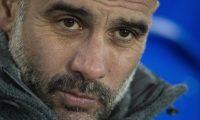 EPA4581. LIVERPOOL (REINO UNIDO), 06/02/2019.- El entrenador del Manchester City, el español Pep Guardiola, reacciona antes durante un encuentro liga de inglesa entre el Everton y el Manchester City en el estadio Goodison Park, este miércoles en Liverpool, Reino Unido. EFE/ Peter Powell SOLO USO EDITORIAL PROHIBIDO SU USO CON VÍDEO O TEXTOS SIN AUTORIZAR? LISTA DE EQUIPOS? LOGOS DE CLUBES O EMISIONES EN DIRECTO. PUBLICACIÓN ONLINE LIMITADA A 75 IMÁGENES SIN EMULAR VÍDEO. NO USAR EN CASAS DE APUESTAS NI PUBLICACIONES DE CLUBES O JUGADORES.