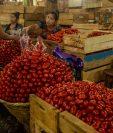 El INE informó que la inflación cerró en 3.41% en diciembre y el tomate fue uno de los productos que registró alzas. (Foto Prensa Libre: Hemeroteca)