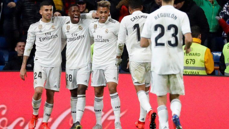 El Real Madrid se enfrentará el miércoles contra el Barcelona en las semifinales de la Copa del Rey. (Foto Prensa Libre: EFE).