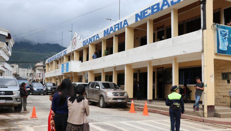 Municipalidad de Nebaj, Quiché, donde desempeña el cargo Pedro Raymundo Cobo. (Foto Prensa Libre: Héctor Cordero).