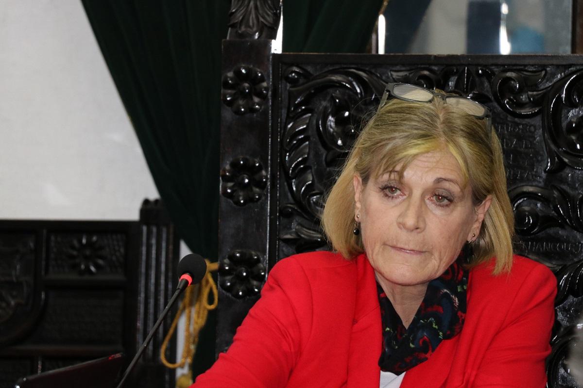 Susana Asencio, alcaldesa de Antigua Guatemala. (Foto Prensa Libre: Julio Sicán).