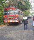 Lugar donde fue ultimado a balazos el ayudante de bus, en Escuintla. (Foto Prensa Libre: Hilary Paredes).
