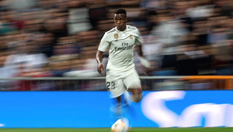 Vinicius Jr es la nueva figura del Real Madrid. (Foto Prensa Libre: EFE)