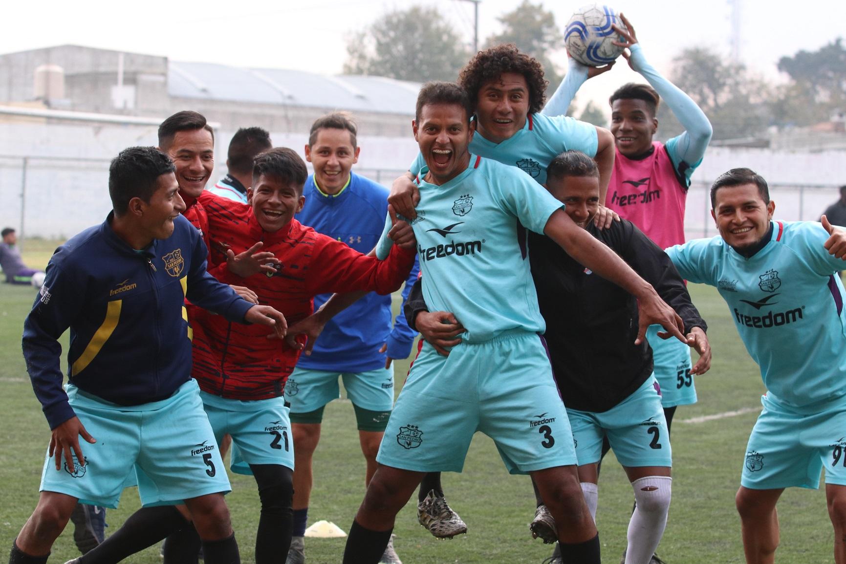 Los jugadores de San Pedro de la Primera División están ilusionados con jugar la final del Torneo de Copa. (Foto Prensa Libre: Raúl Juárez)