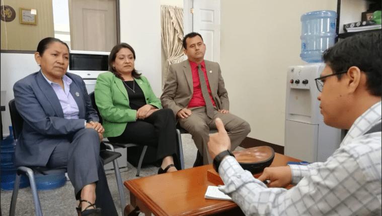 El Tribunal de Mayor Riesgo D, integrado por Sara Yoc Wendy Coloma y Eduardo Morataya hay opiniones encontradas por el aspecto de seguridad. (Foto Prensa Libre: Cortesía)
