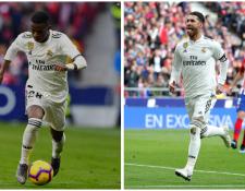 Entre Vinicius y Sergio Ramos hay una diferencia de más de diez años. En el campo se complementan. (Foto Prensa Libre: EFE)