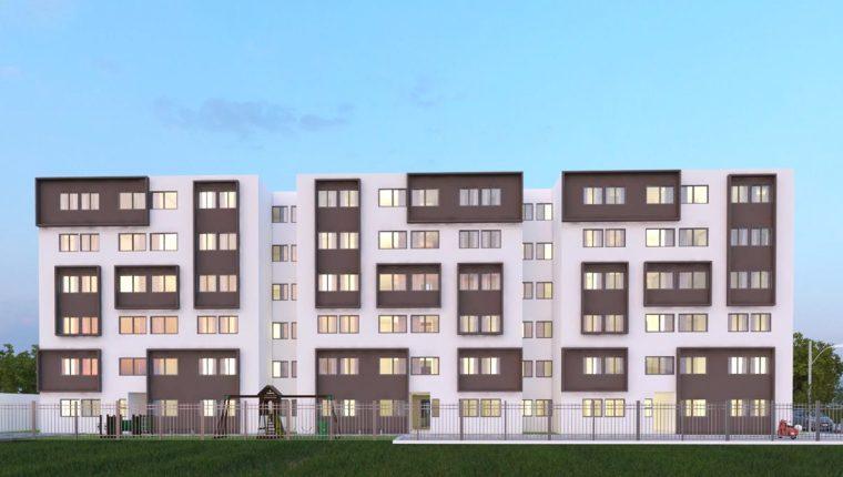 Uno de los proyectos de vivienda social con base al modelo Muvis se construye en la zona 6. (Foto, Prensa Libre: Hemeroteca PL).